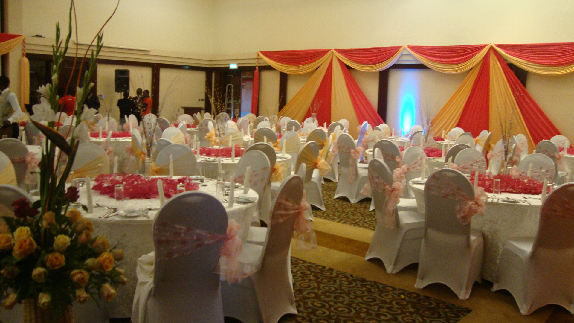 A view of the reception before guests arrived.