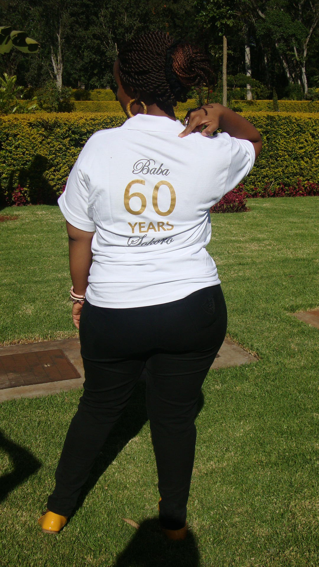 A shot of the back of the shirt. 60 years! :-)