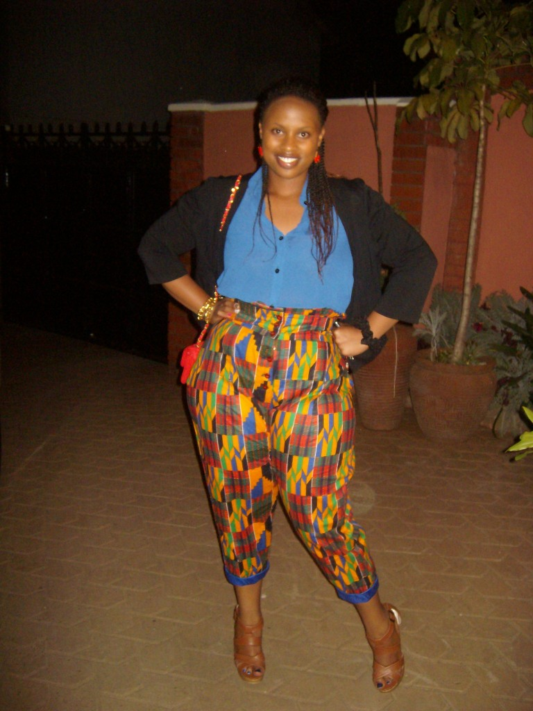 My first high-waist pants that look good on me. LOVE.
