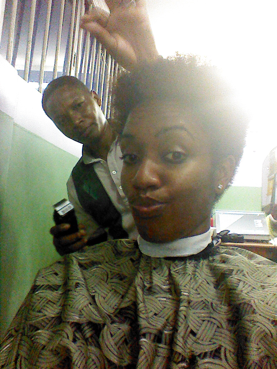 At the barber's :-)
